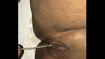 pissing on ebony&rsquo_s pussy