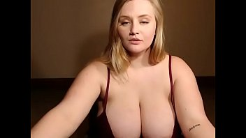 cute bbw revealed her incredible tits.
