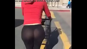 white girl ass in spandex bugee.