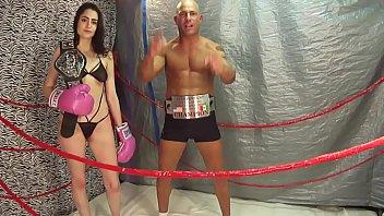 lori in man vs women mma match intergender.