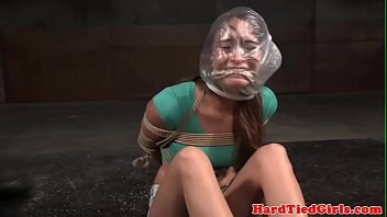 tied sub whipped in interracial duo
