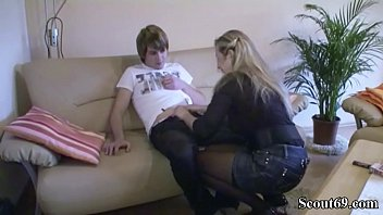 german mom teach virgin step-son how to fuck.
