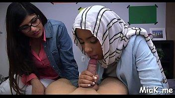 hardcore threesome with arab whore