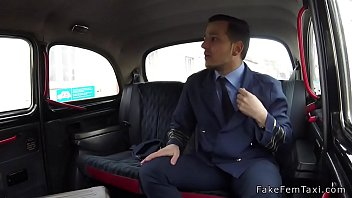 sexy blonde taxi driver rides pilot