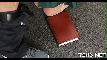well-hung stud stretches schoolgirl&rsquo_s pussy on.