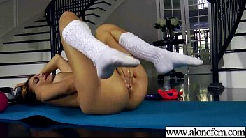 lovely girl play with crazy stuffs till climax vid-006