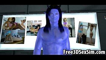 sexy 3d cartoon avatar aliens doing.