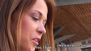 czech girlfriend gets anal in hotel.