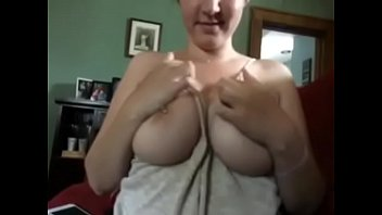 big tits milf juggles