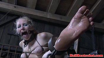 feet punished sub breast bonded and.
