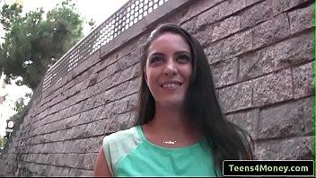 teens love money - spanish waitress fucks for.