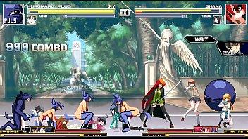 kuromaru plus vs dengeki bunko fighting climax 02.