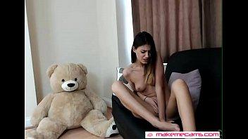 nice chick masturbates at home - more videos.
