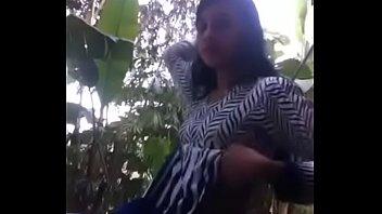 bengali girl strips then masturbates outdoors-.