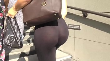 candid ass - see-through leggings black.