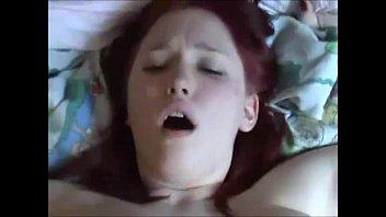 big boobed redhead creampied on real.