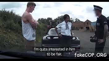 fake cop is punished during sex