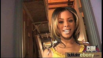 gorgeous ebony lady sucks white dicks and gangbang.