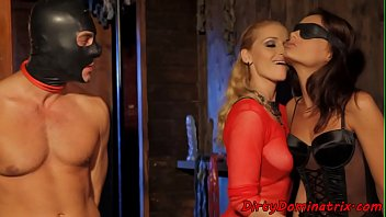 eurobabe dominates in ffm threesome