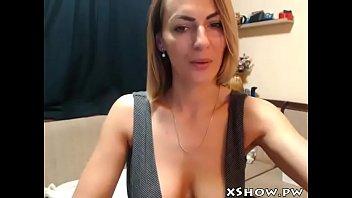 gorgeous horny mother masturbating on web.