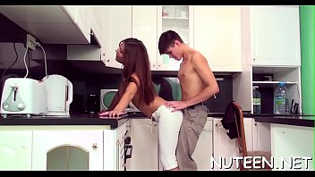 legal age teenager beauty kisses lips of her boyfriend