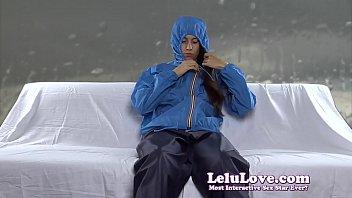 masturbating in my windbreaker rain gear while talking.
