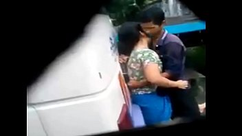 desi girl and boy sex in bus terminal.