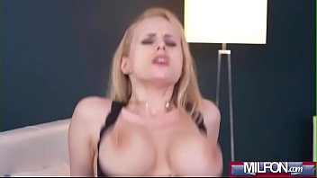 hot load on blonde milf'_s big tits(angel wicky).