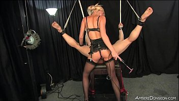 petite blonde mistress uses slave for.