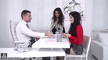 darcia lee and mia evans rides their boss&#039_.