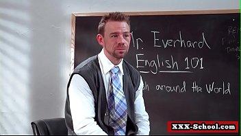 teacher and schoolgirl fucked in classroom.