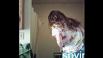 spying on cute teen sister