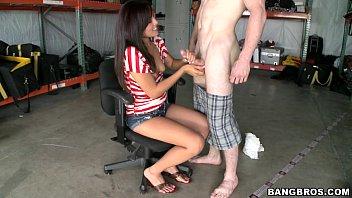 shy handjob