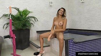transsexual slut bella atrix fills her tight ass.