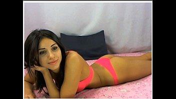 teen brunette ass in pink bra.