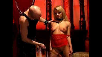 hot blonde submissive babe whipped by.