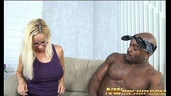 blonde milf and big black dick.