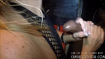 submissive wife slut draining gloryhole cocks.