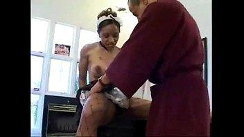 big ass black maid ayana angel gets pumped.