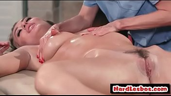 sexy blonde gets her hairy pussy fingered -.