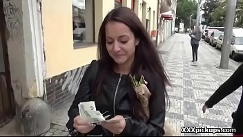 public pickups european girl seduced by horny amarican.