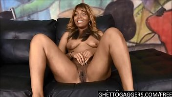 ebony bitch mocha sinn takes 2 big cocks.