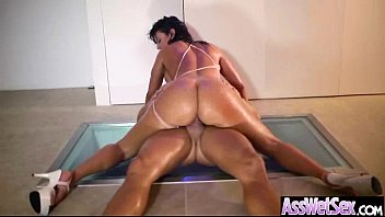(franceska jaimes) deep anal sex with oiled curvy.