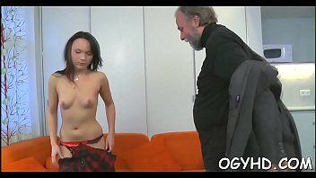old chap inserts cock in young.