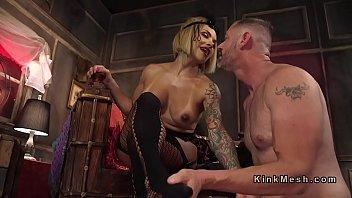 busty tranny anal bangs male slave