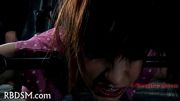 caged babe forced to give oral-service