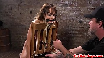 busty submissive flogged and pussytoyed