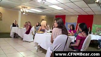 strippers get blowjobs from cfnm amateurs.