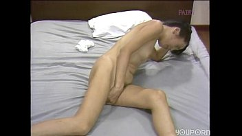 japanese woman dildos her hairy pussy
