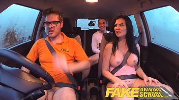 fake driving school exam failure ends in threesome.